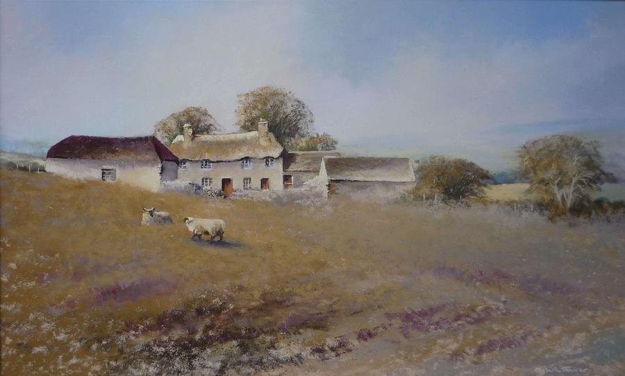 Farmhouse Painting - Dartmoor Farmhouse by Mark Whittaker