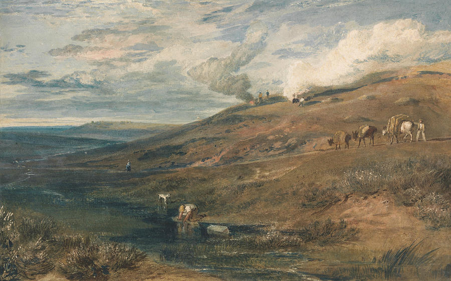 Landscape Painting - Dartmoor The Source Of The Tamar And The Torridge by Joseph Mallord William Turner