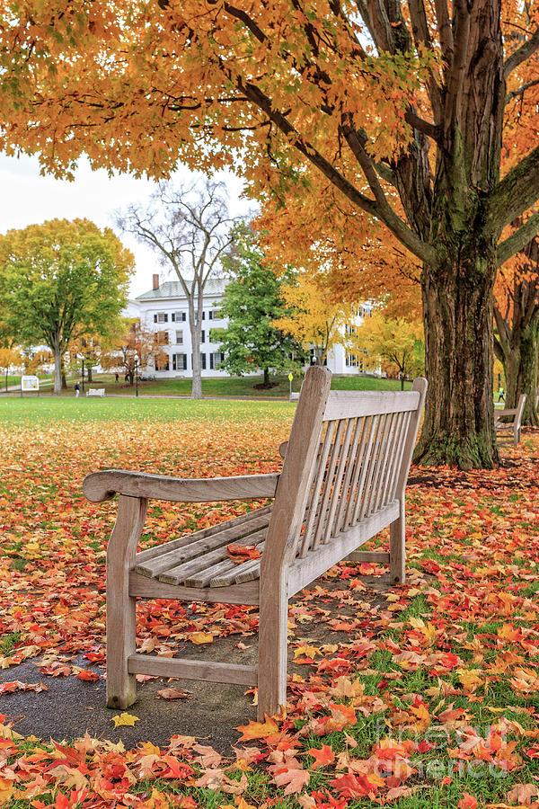 Dartmouth Photograph - Dartmouth Hanover Green In Autumn by Edward Fielding