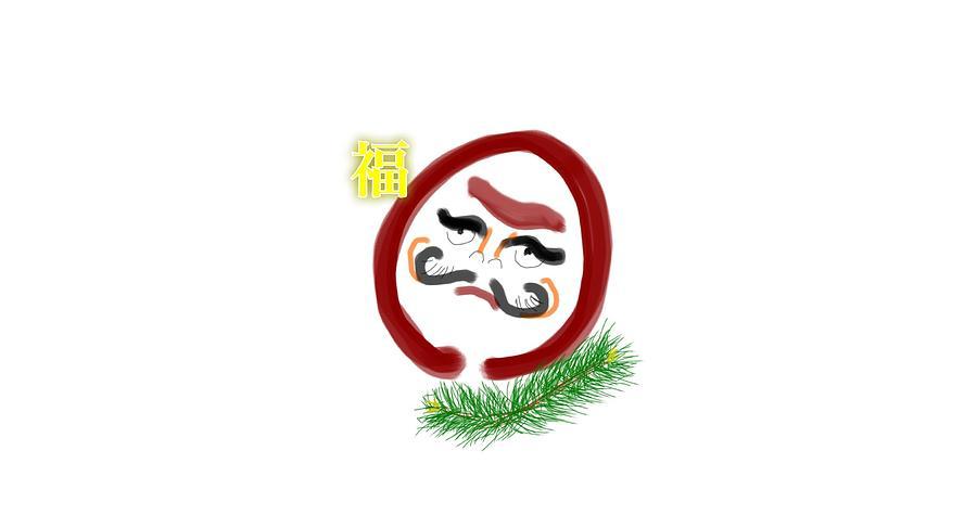 Daruma Drawing - Daruma by Kumiko Izumi