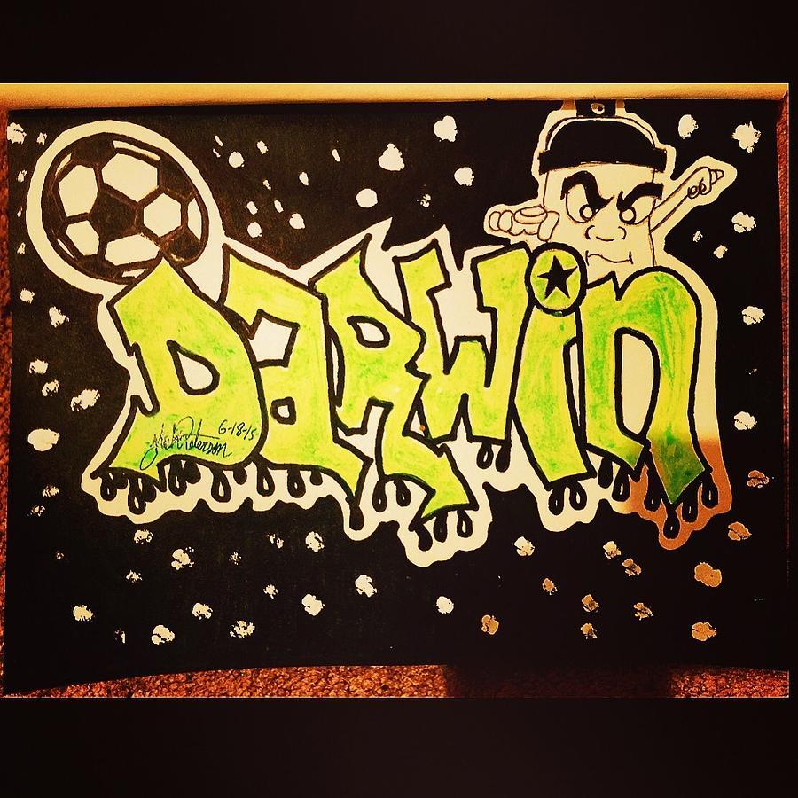 Darwin-graffiti Drawing by Nick Peterson