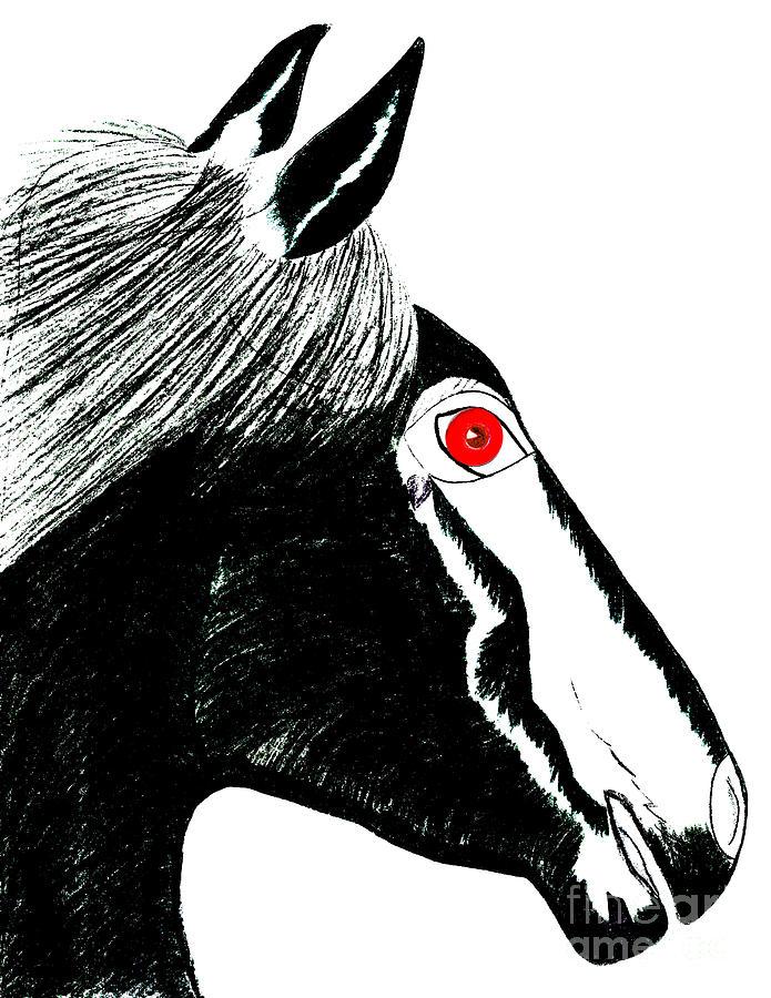 Horses Painting - Darwin by Tess M J Iroldi