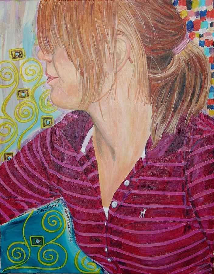 Kevin Callahan Painting - Das Girl by Kevin Callahan
