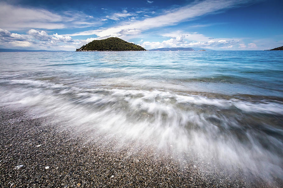 Aegean Sea Photograph - Dasia Island by Evgeni Dinev