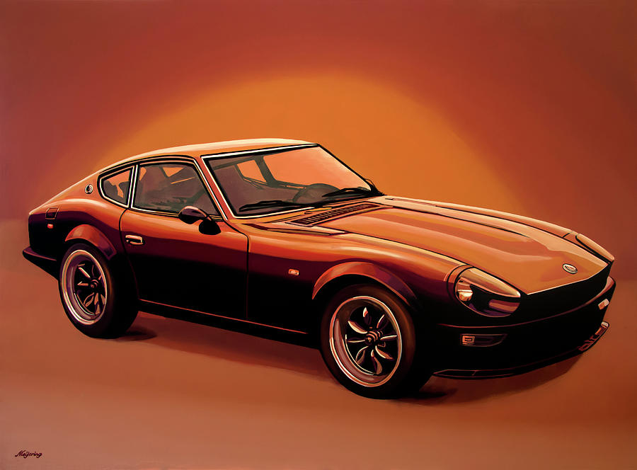 Datsun 240z 1970 Painting Painting by Paul Meijering