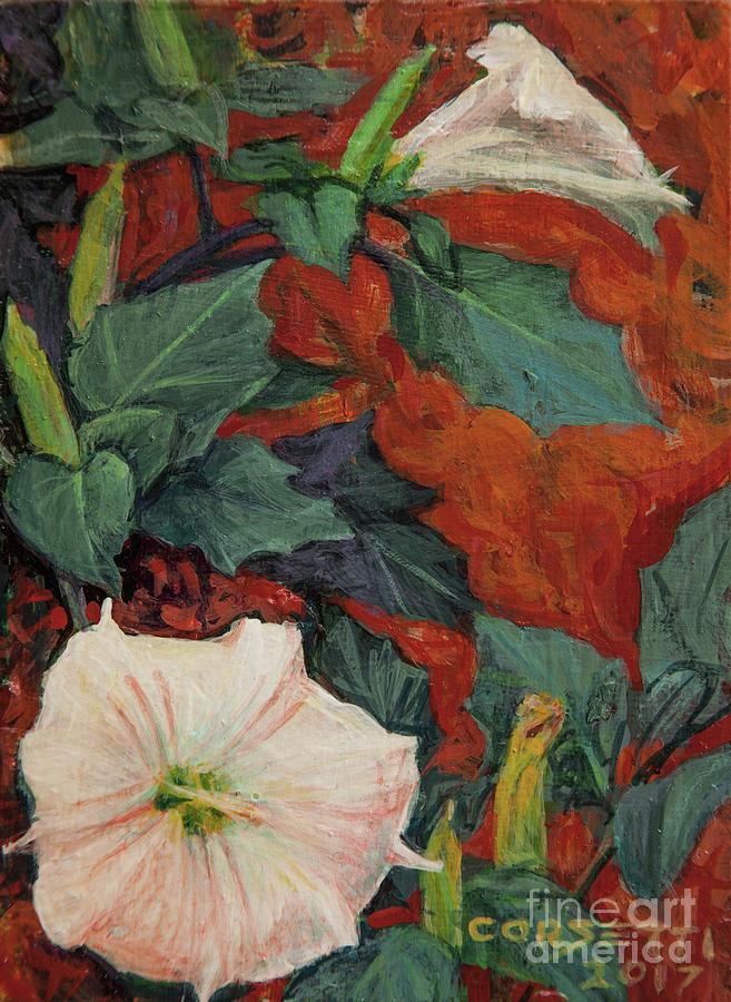 Desert Painting - Datura Flower by Rob Corsetti