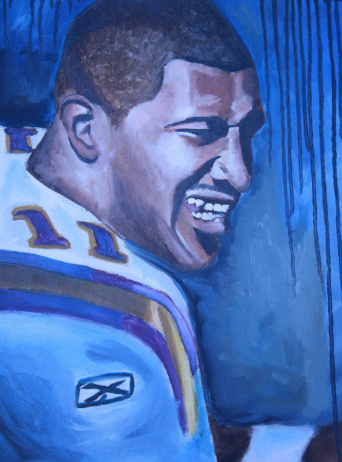 Nfl Paintings Painting - Daunte Culpepper by Mikayla Ziegler