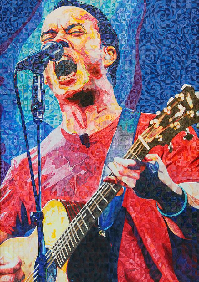 Dave Matthews Drawing - Dave Matthews Squared by Joshua Morton