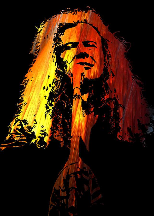 Dave Digital Art - Dave Mustaine by Michael Bergman