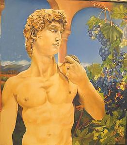 David Among Grapes  Oil On Canvas    Painting by Brian  Major