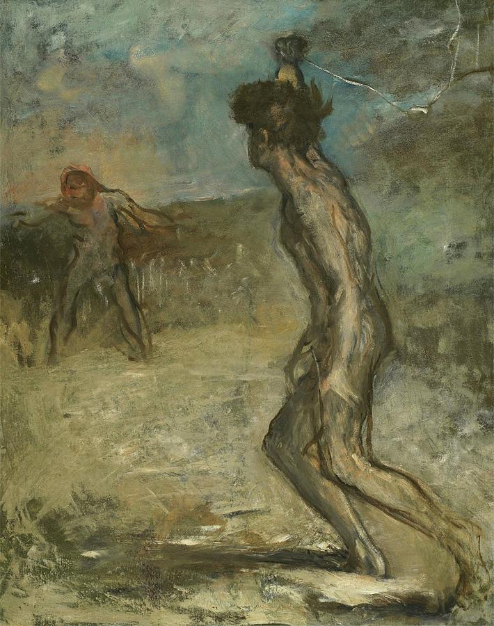 David and Goliath by Edgar Degas