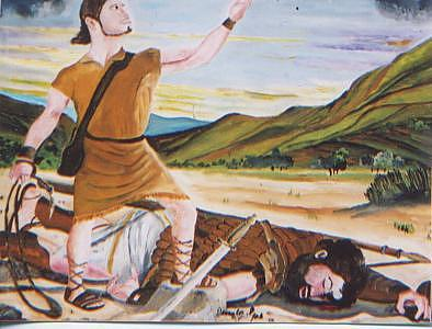 David And Goliath Painting by Patrick Desenclos