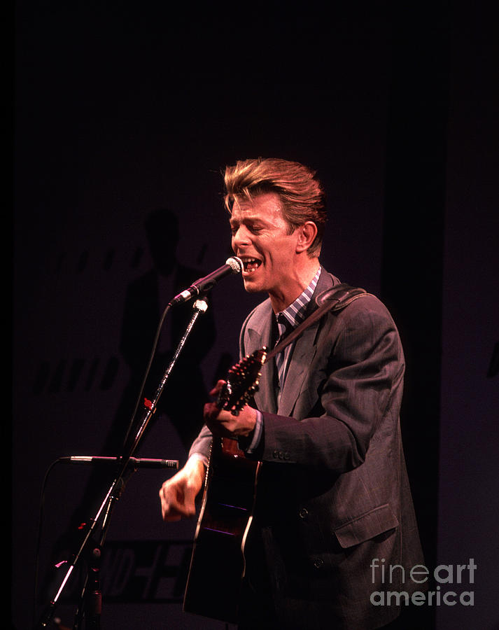 David Bowie Photograph - David Bowie 1990 by Chris Walter