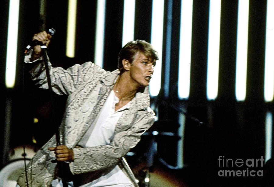 David Bowie Photograph - David Bowie Action Man by Sue Halstenberg