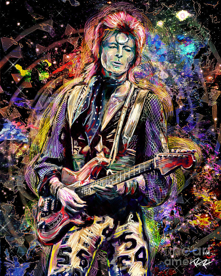 David Bowie Art Mixed Media By Ryan Rock Artist