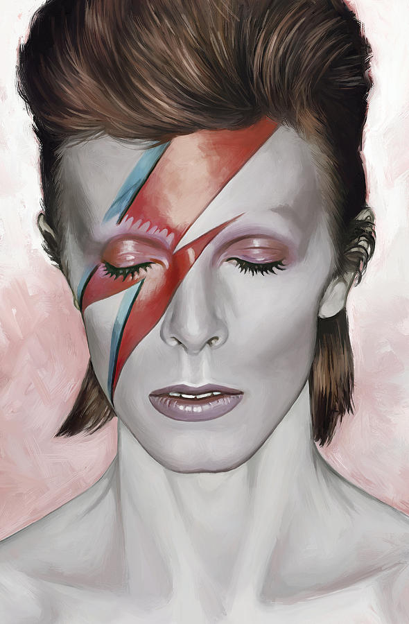 David Bowie Painting Painting - David Bowie Artwork 1 by Sheraz A