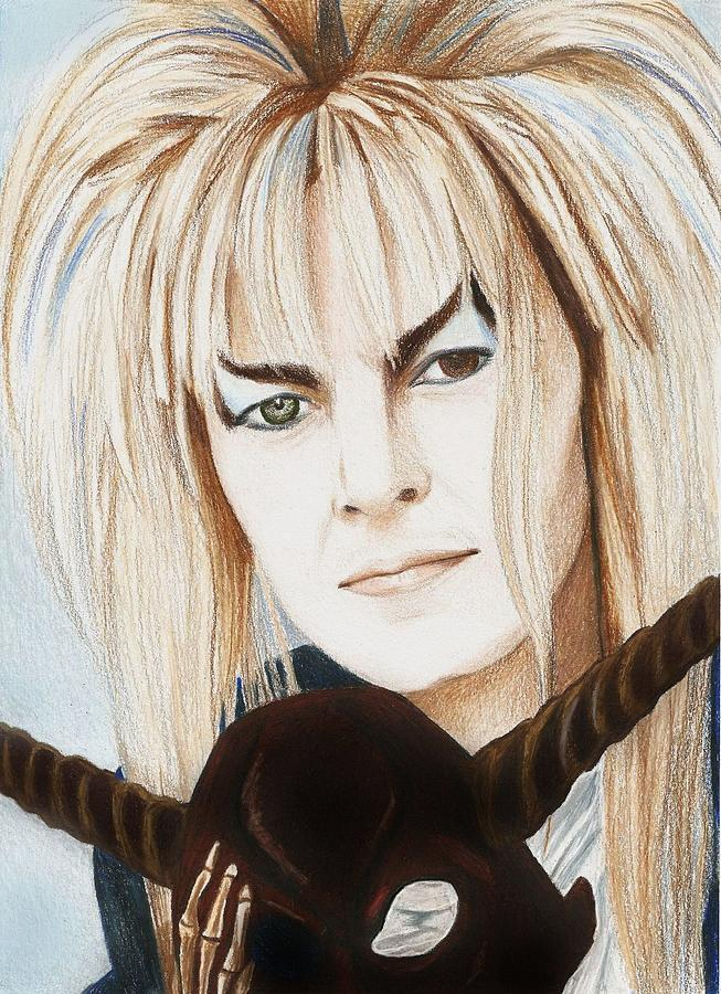 David Bowie Drawing - David Bowie As Jareth by Amber Stanford