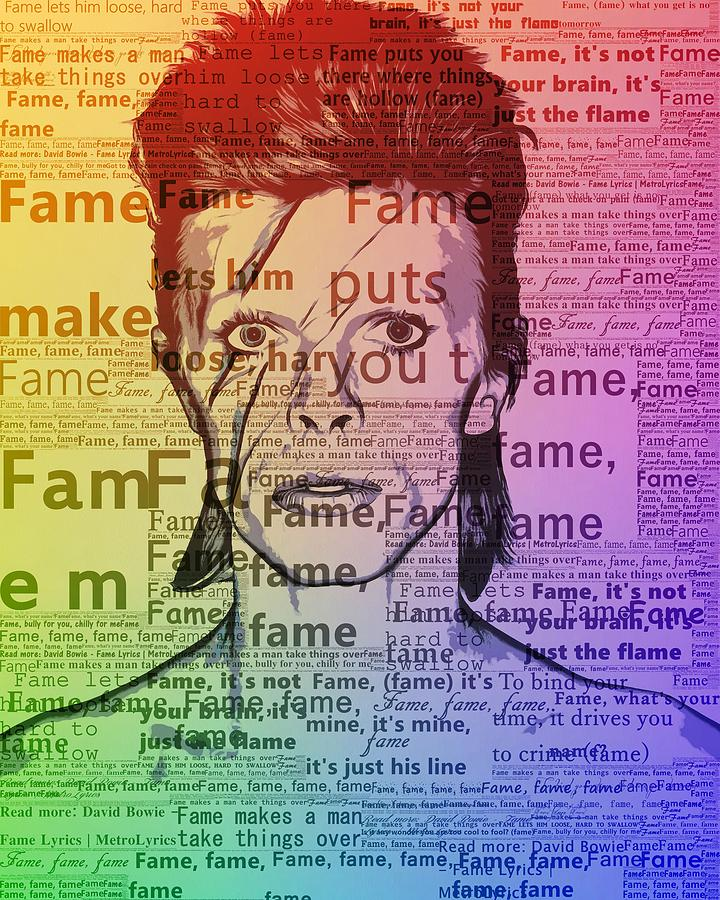 David Bowie Fame Mixed Media by Dan Sproul