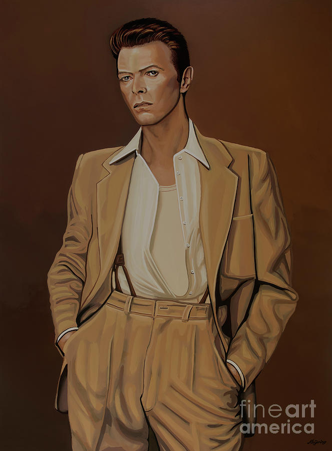 David Bowie Painting - David Bowie Four Ever by Paul Meijering