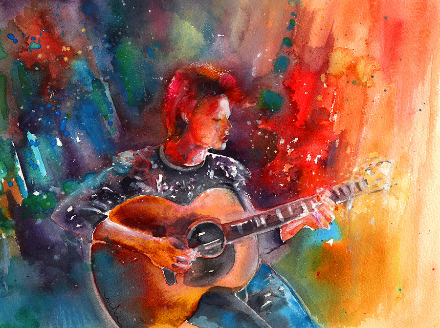 David Bowie In Space Oddity Painting By Miki De Goodaboom