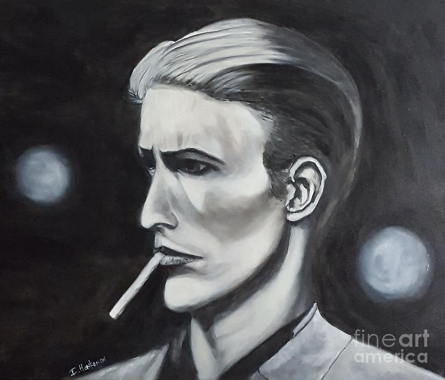 David Bowie Painting - David Bowie by Isabel Honkonen