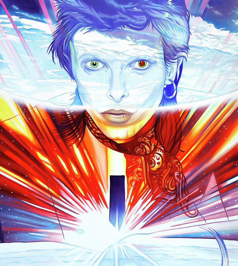 David Bowie Painting - David Bowie by Joshua Morton
