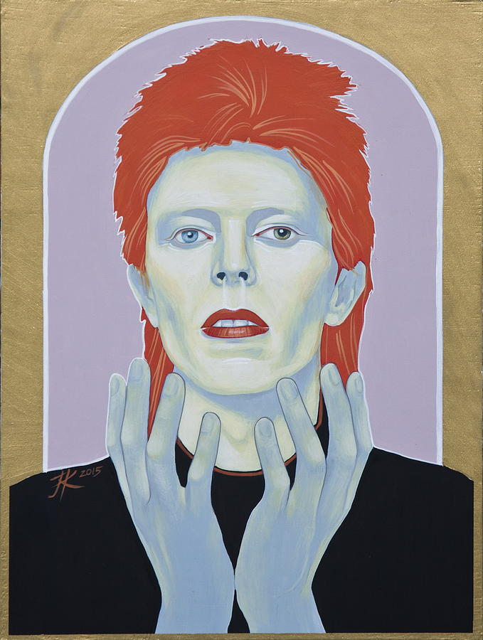 David Bowie Painting - David Bowie by Jovana Kolic