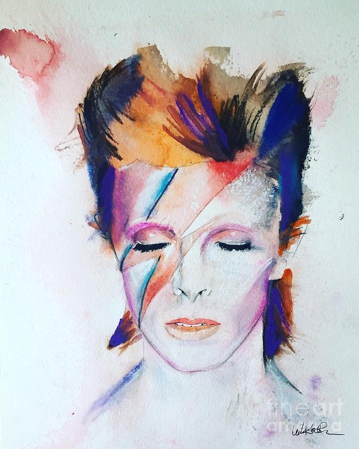 Bowie Face Painted