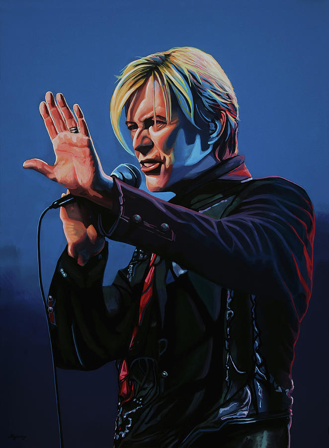 David Bowie Painting - David Bowie Live Painting by Paul Meijering