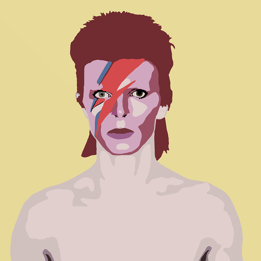 Contemporary David Bowie Wall Art Crest - The Wall Art Decorations ...
