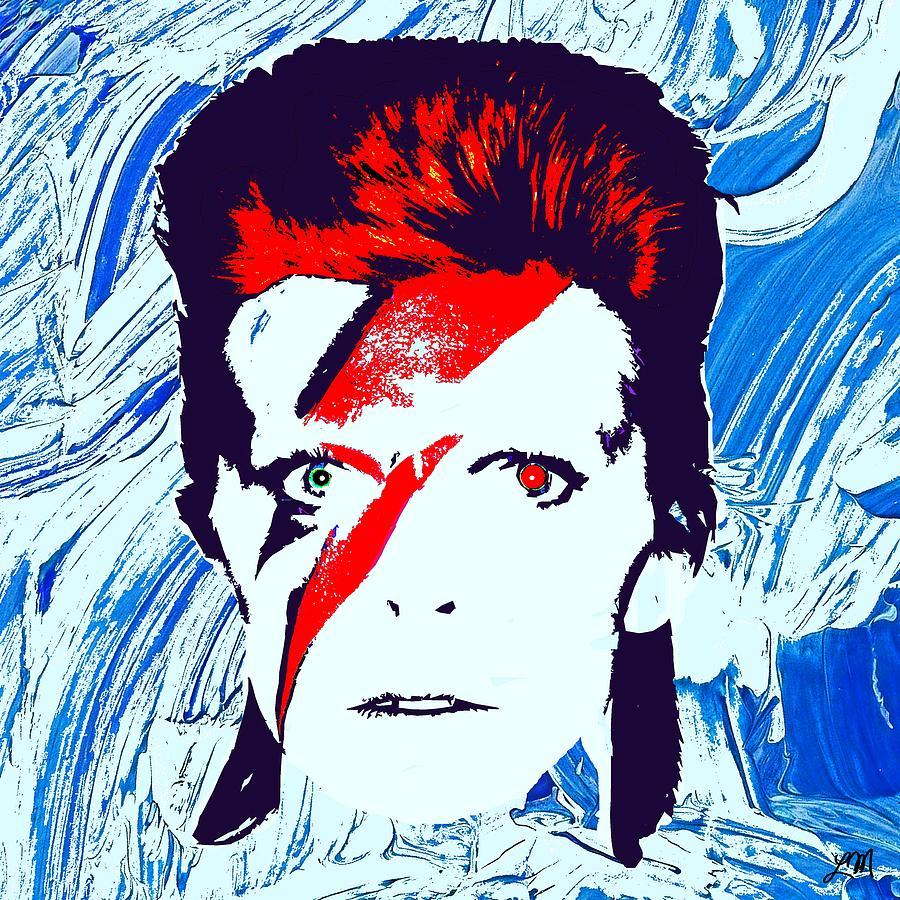 David Bowie Digital Art - David Bowie Panel Six by Linda Mears
