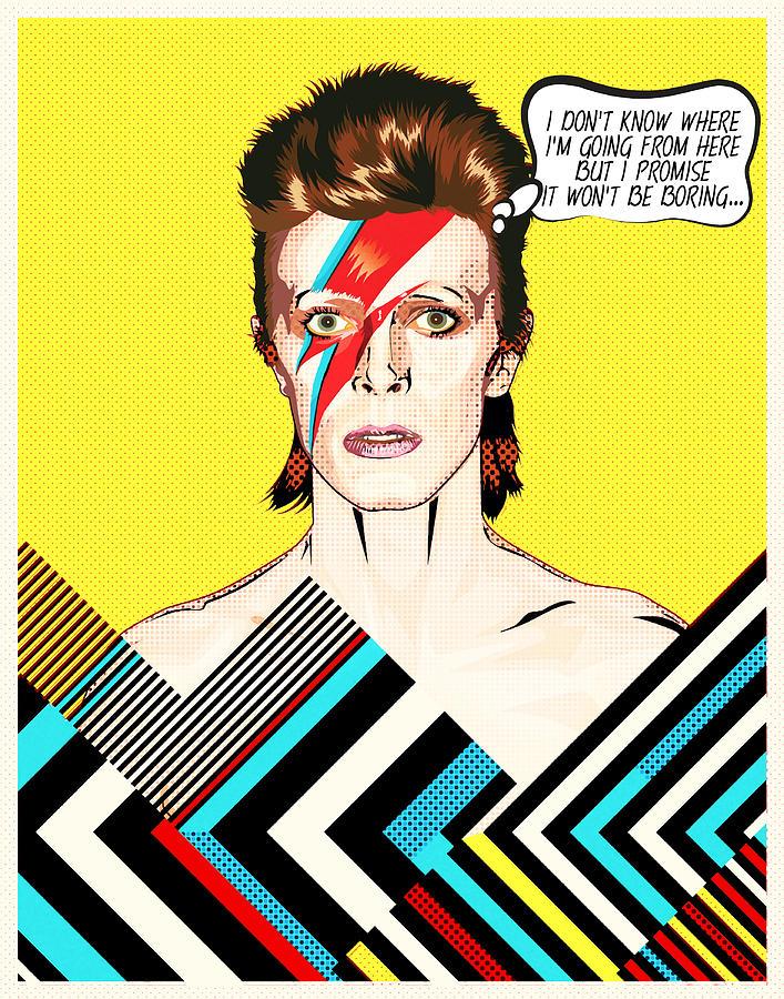 David Bowie Pop Art Digital Art By Bonb Creative