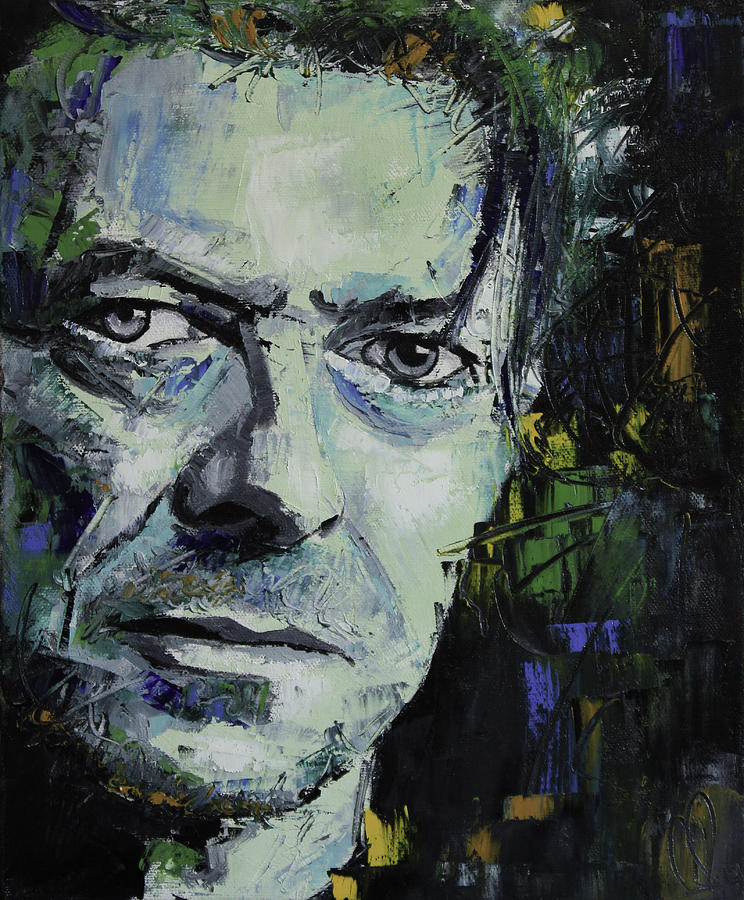 David Bowie Painting - David Bowie by Richard Day
