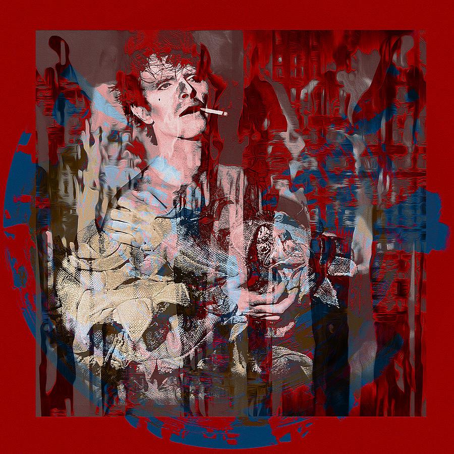 David Bowie Digital Art - David Bowie    Scary Monsters by Graceindirain Imagery