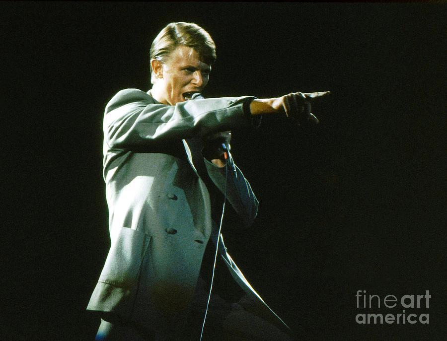 David Bowie Photograph - David Bowie the Point by Sue Halstenberg