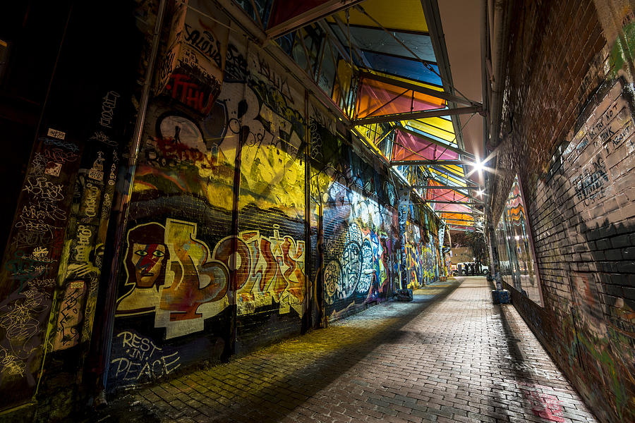 Cambridge Photograph - David Bowie Tribute Central Square Cambridge Graffiti Down the Tunnel by Toby McGuire