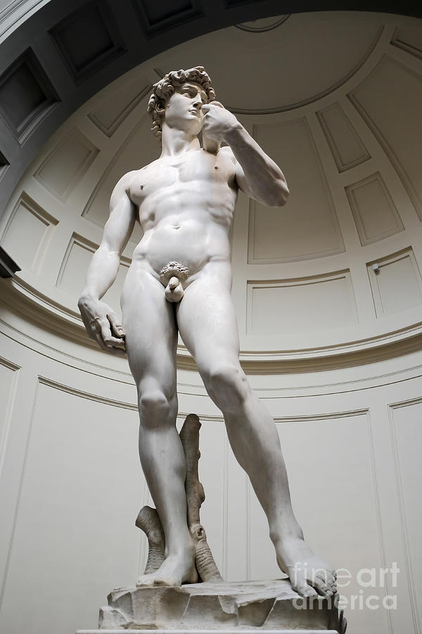 Florence Photograph - David By Michelangelo by Edward Fielding