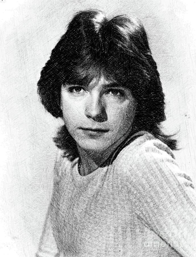 David Cassidy, Vintage Actor By Js Drawing