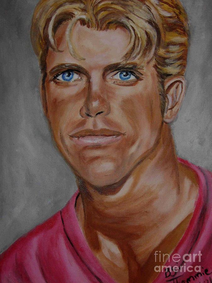 Portrait Painting - David Chokachi by Thomasina Marks