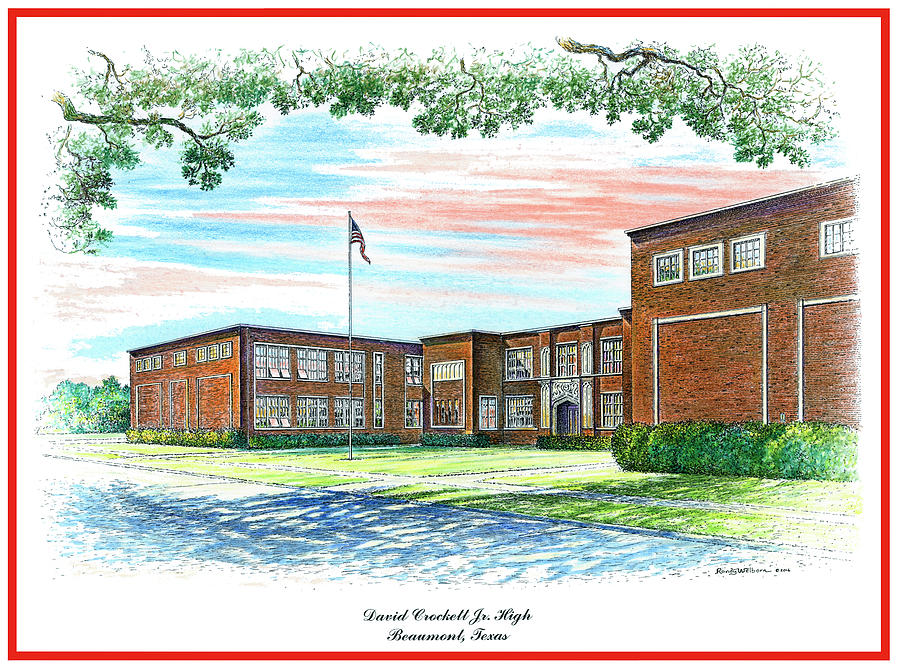 David Crockett Junior High School by Randy Welborn