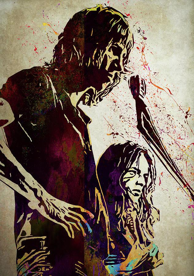 David Gilmour And Roger Waters Pink Floyd Digital Art By Elizabeth