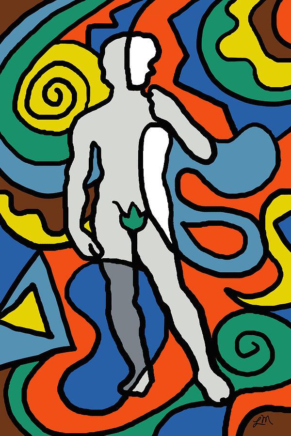 Abstract Digital Art - David Imagined by Linda Mears