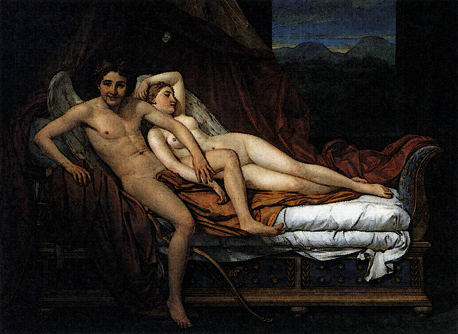 cupid Jacques psyche and david louis