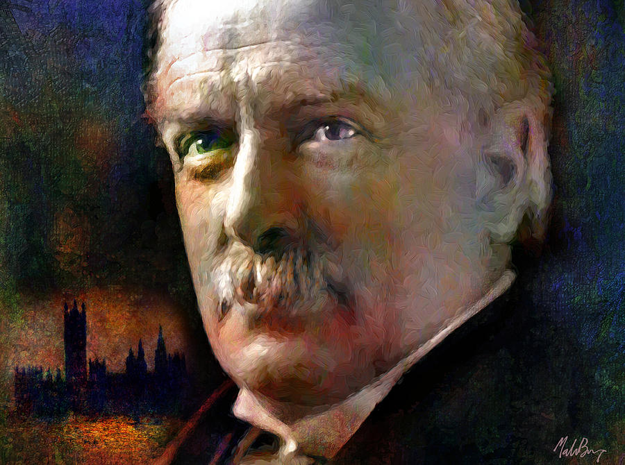 David Lloyd George Mixed Media - David Lloyd George by Mal Bray