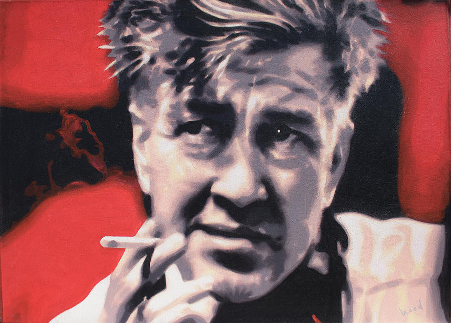 Laura Palmer Painting - David Lynch by Hood aka Ludzska