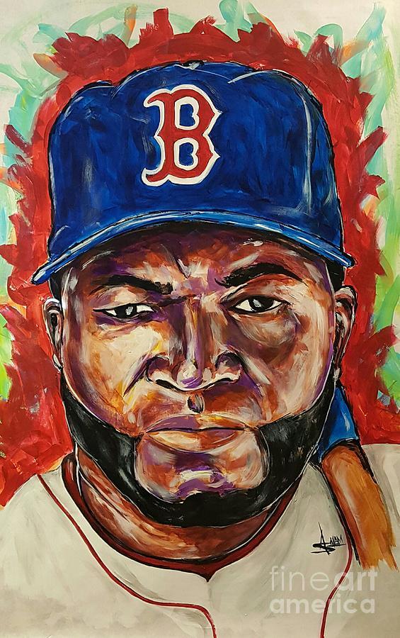 Boston Red Sox Painting - David Ortiz by Artist Ahmed Salam