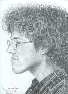 Drawing Drawing - David by Pat Aube Gray