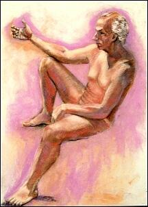 Figure Study Painting - David Tells It Like It Is by Charles Peck