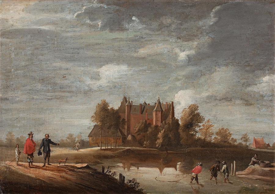 David Teniers D.y Follower Of, The Three Towers At Perk, Belgium Painting