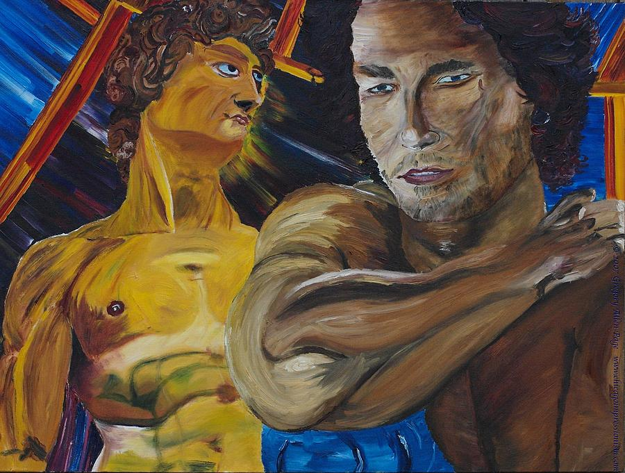 The David Painting - David V. Hollywood by Gregory Allen Page